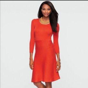 Talbots Red/Orange Sweater Dress